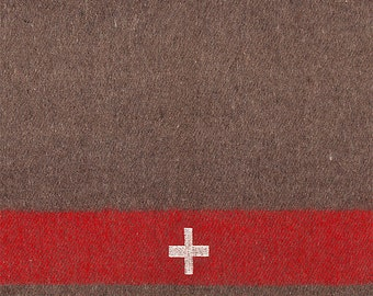 Set of (2) Swiss Army Style Wool Blankets