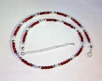Swarovski Crystal Jewelry - Ruby Necklace