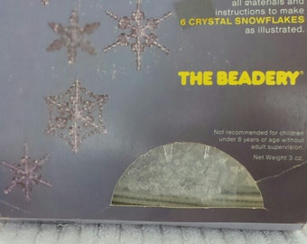 Crystal SNOWFLAKE Ornaments BEADERY Kit SIX Variety Beads Item 4755 Gift Idea