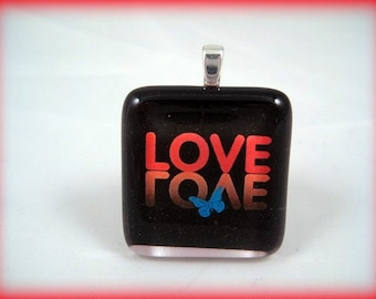 Reflections of Love Glass Tile Pendant
