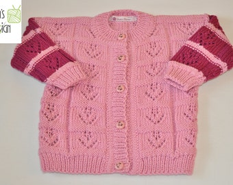 "Children's jacket ""Elisa"" knitted Gr. CA 74"
