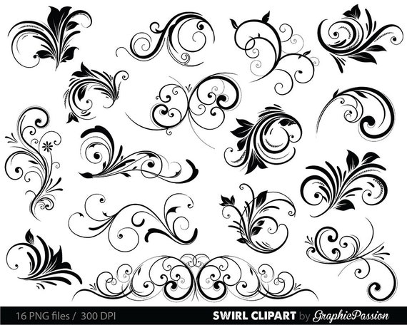 swirls clipart digital swirls clip art vector swirls photoshop rh etsy com clipart vectoriel noel clipart vectoriel noel