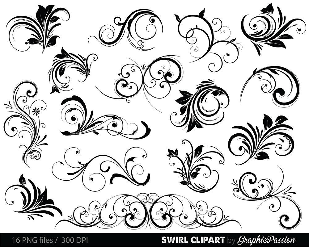 Swirls clipart digital swirls clip art vector swirls photoshop swirls clipart digital swirls clip art vector swirls photoshop brushes digital scrapbooking wedding invitations flourish floral silhouette from stopboris Image collections