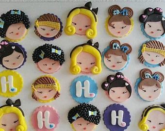 Harajuku lover inspired cupcake toppers