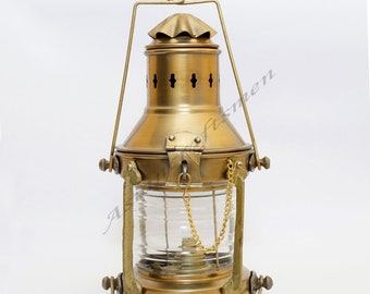 Vintage Victorian Style Nautical Anchor Ship Working Lantern Maritime Home Decor