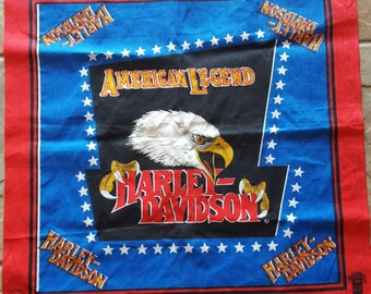 Harley Davidson / American Legend / Unfinished Square / 20-1/2 X 20-1/2 / Bandanna / Sewing Square /  Scarf / Head Ware / Handkerchief