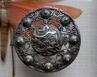 Antique Sterling Silver Brooch or Pendant Arabic