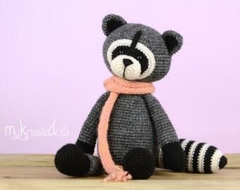 Crochet Pattern - Raccoon Rocky