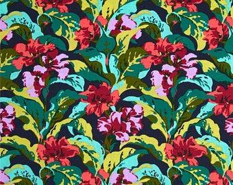 Amy Butler Bright Heart Tropicana - Free Spirit - Green, Red Aqua Floral - 100% Quilt Cotton