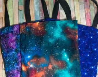Nerditotes Handmade Handsewn Galaxy Tote Bag