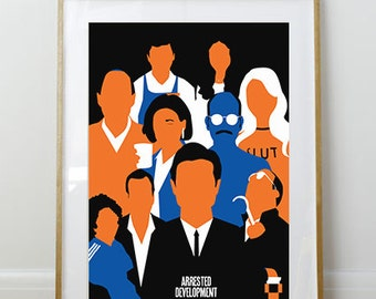 The Bluth Family // Arrested Development Print // 11 x 17 // A3 // RIBBA 290 x 390mm
