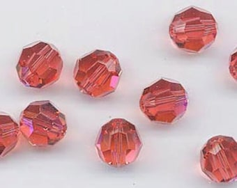 Swarovski factory pack - Art 5000 - 10 mm - padparadscha AB - 1 gross
