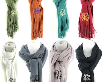 Monogrammed Cashmere Feel Scarf