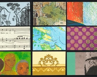 Artist Trading Card Backgrounds - Mixed Package - Use in Collages, also