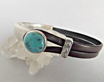 Turquoise, turquoise jewelry, leather bracelets for women, leather bracelet, turquoise bracelet, bracelets for women, leather jewelry
