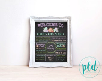 Baby's Brewing Printable Chalkboard, Baby Shower Chalkboard, Tea Baby Shower, Baby Shower Sign