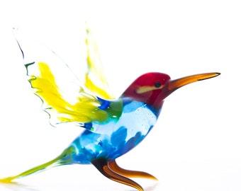 Murano Glass Hummingbird Sculpture - Amazing Gift and Home Decor Decoration