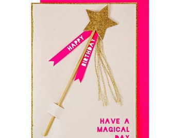 Magic Wand Birthday Card - Meri Meri