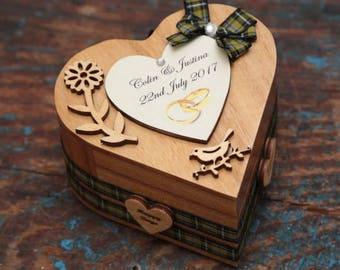 Ring bearer personalised heart box