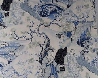 Four Seasons Blue Alexander Henry Cotton Fabric