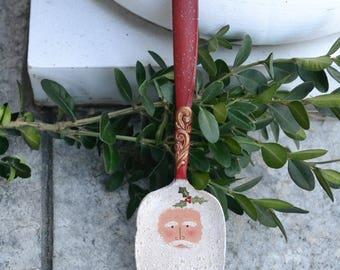 Santa Pie Server Ornament/Vintage Besteck/gemalt Besteck/Santa Ornament
