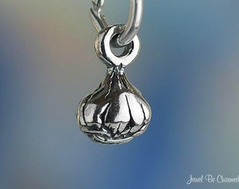 Miniature Sterling Silver Garlic Charm Bulb Cooking Tiny 3D Solid .925