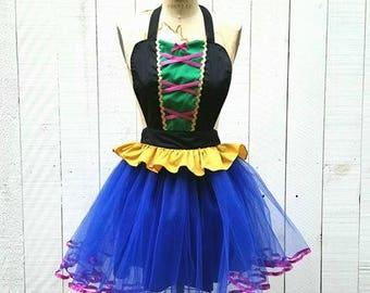 Anna Costume apron, Anna Running Costume apron, costume apron, Princess running costume apron, womens Anna tutu, Frozen costume,
