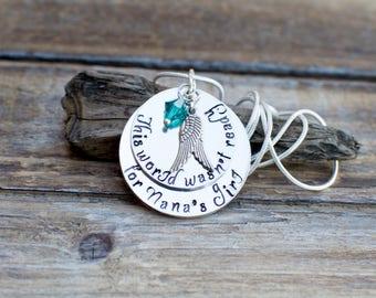 Granddaughter Memorial Jewelry, Granddaughter Memorial Necklace, My Angel Granddaughter, Bereavement, Loss of Granddaughter, Sympathy Gift