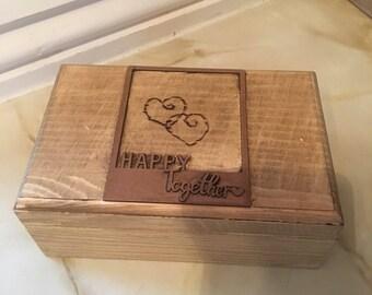 Woodburned  jewellery  box