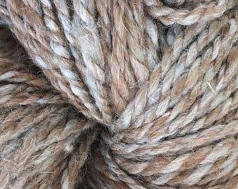 Natural Alpaca Handspun blend : Alpaca hand spun yarn 20% Merino/Silk