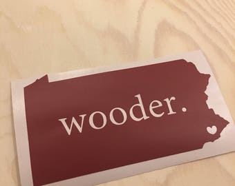 Philadelphia Water (wooder) Vinyl Decal