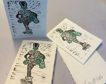 Frankenstein's Bride Halloween Card