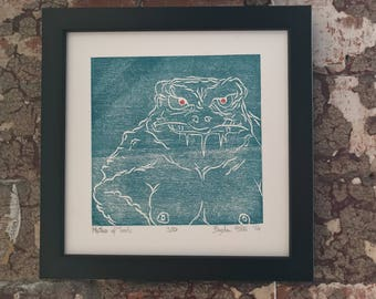 MOTHER OF TOADS - Original Woodcut Print