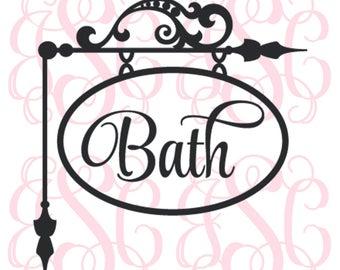 Bath Vinyl Decal