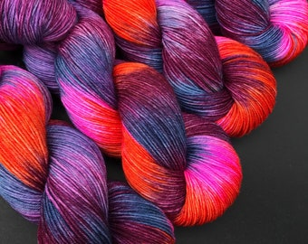 Elmeda- Sock weight, Hand dyed yarn, Superwash Merino, 463 yards