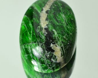 CHROME DIOPSIDE polished gem cabochon 10 grams specimen #7746 - RUSSIA