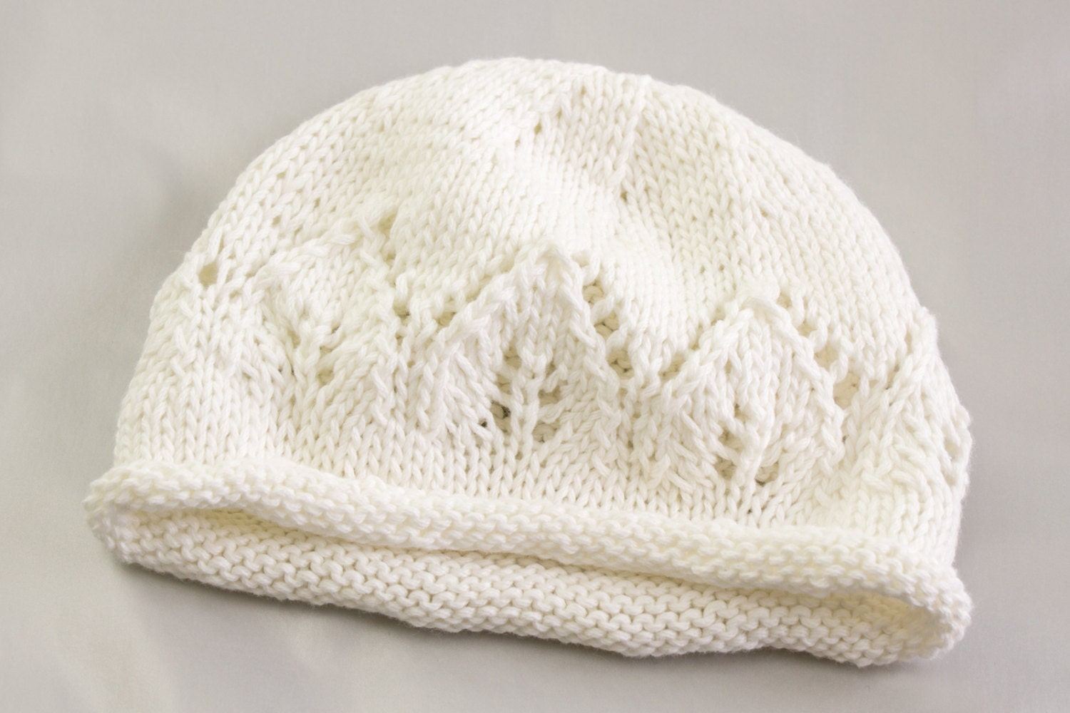 KNITTING PATTERN, Newborn Baby Hat, Baby Hat with Lace Panel, Baby ...