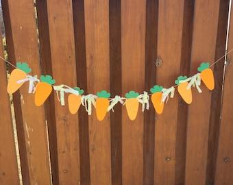 Felt Carrot Easter Banner