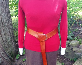 Light brown leather o-ring belt - fashion accessories - costume accessories - renaissance cosplay belt - Dagorhir belt - Belegarth belt