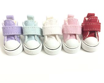 3.5cm Casual Canvas Shoes For 1/8 BJD Doll, Fashion Mini Toy Shoes Sneakers for Blythe Dolls,1/8 Bjd Doll Shoes for Dolls Accessories