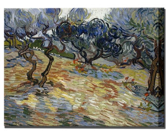 Van Gogh Olive Trees Home Decor Canvas Print Canvas Art Canvas Interior Design Ready To Hang
