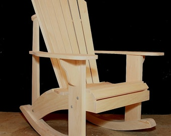 Adirondack Rocking Chair Plans - DWG files for CNC machines