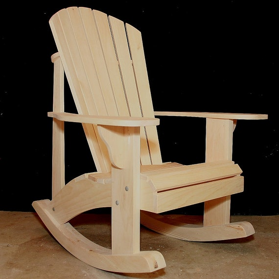 Beau Adirondack Rocking Chair Plans DWG Files For CNC Machines
