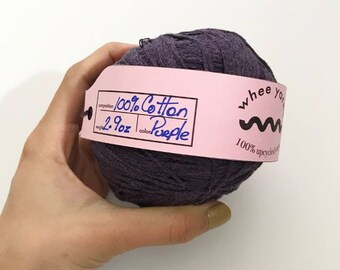 Purple | UPCYCLED YARN | 100% Cotton