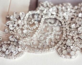 Crystal Bridal Sash - Jill (Made to Order)