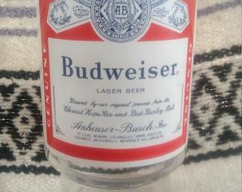 Vintage 1980's Budweiser Beer King Of Beers Oversized Glass
