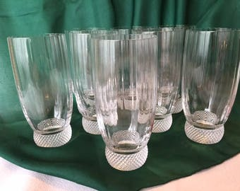 Crystal Barware, Set/8, Villeroy U0026 Boch Crystal, Laguna Water Glasses,