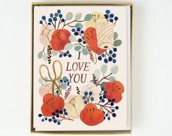 I Love You Florals 8pcs Boxed Set