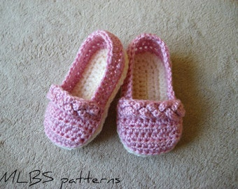 Crochet pattern baby booties crochet pattern booty shoes 0-18 months Photo Tutorial US terminology Instant Download Nr.25