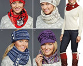 Simplicity Sewing Pattern 8036 Misses' Cold Weather Accessories